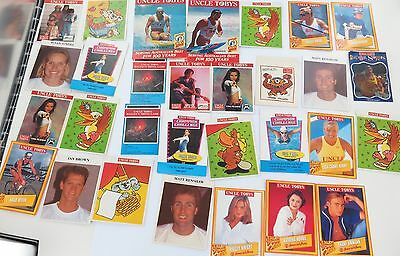 Nice Job Lot Of Australian Uncle Tobys Trading Cards, Stickers Etc.