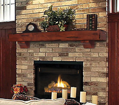 "Mantels The Shen&oah 72""es Rustic Cherry Distressed Finish Mantel Shelf New"