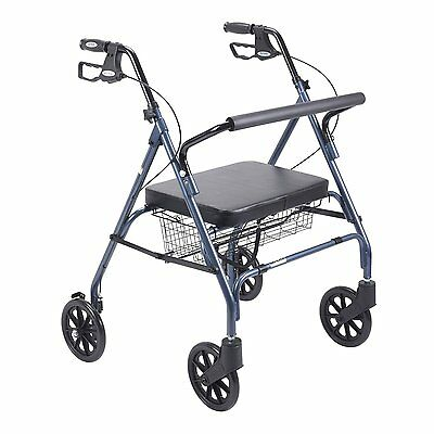 Heavy Duty Bariatric Rollator Walker Blue 10215BL-1 By Drive Medical New