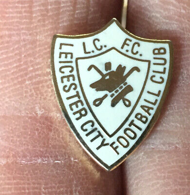 Leicester City Small Old Crest Shield Enamel Pin Badge