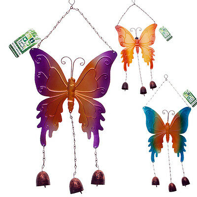 Butterfly Wind Chime Sun Catcher Mobile Bell Ornament Garden Hanging Decor Art