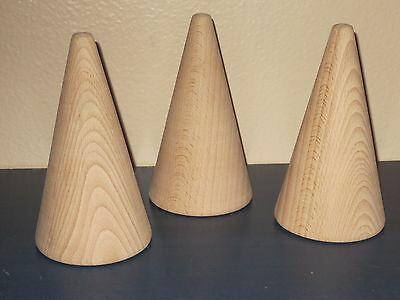 Unfinished Wood Cone Finial Decorative Hardware