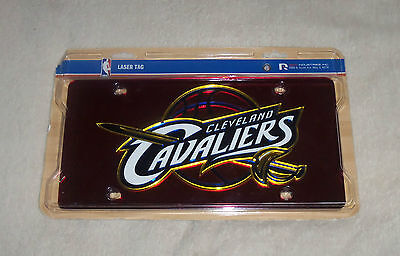 NBA : Cleveland Cavaliers Laser Chrome License Plate - New - Rare