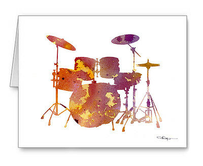 DRUM SET  Note Cards With Envelopes