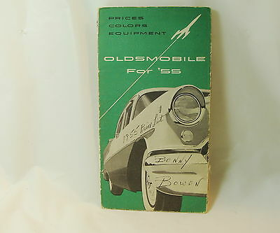 1955 Oldsmobile Salesmen's Specifications Book Prices