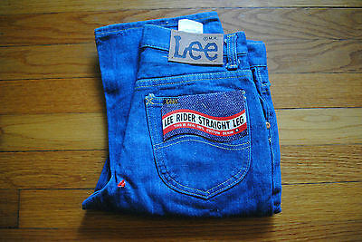 1980's Men's Lee Pre- Wash Jeans Size 28 x 32, Made in USA, Deadstock