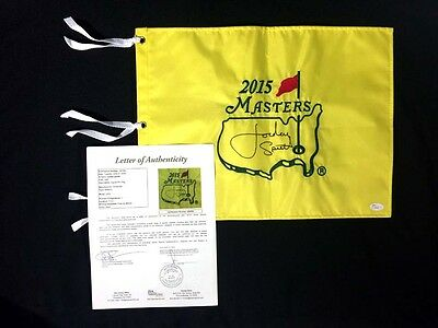 Jordan Spieth Signed 2015 Masters Augusta National Golf Pin Flag **MINT**