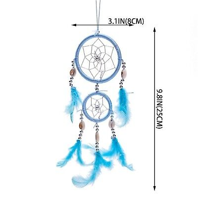 "12"" Traditional Blue Dream Catcher with Feathers Wall or Car Hanging Ornament..."