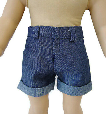 Denim Shorts Cuffs fits 18 inch American Girl Doll Clothes Accessories