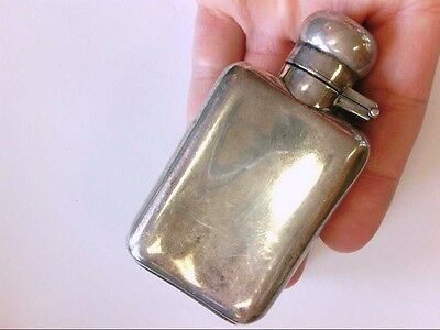 "Vintage Sterling Silver 3.5"" Small Flask. 2.1 Ounces. Hallmarked ""NW"". BUY NOW!!"