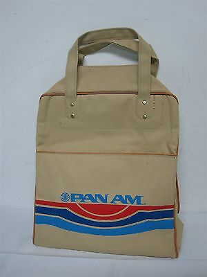 Vintage Pan Am Airlines Carry On Bag Suitcase ~ Not Used