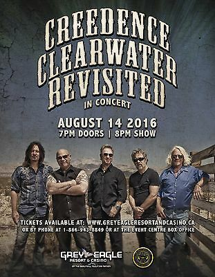 "CREEDENCE CLEARWATER ""REVISITED IN CONCERT"" 2014 CALGARY TOUR POSTER- Swamp Rock"