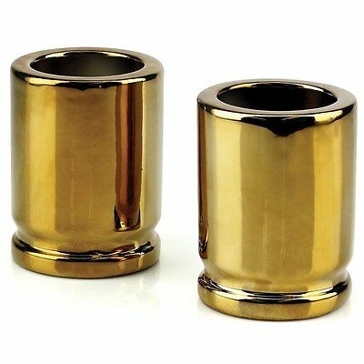 50 Caliber Bullet Shot Glasses Pair Set of 2 Father's Day Bar Fun Novelty Gift