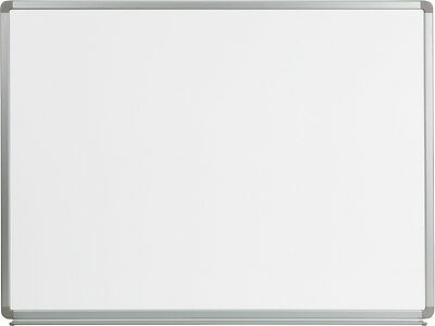 Flash Furniture YU-90X120-WHITE-GG Magnetic Marker Board 4 ft. W x 3 ft. H New