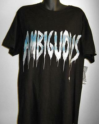 NWT Mens Size L Black Ambiguous Print Cotton T-shirt RRP $34.95