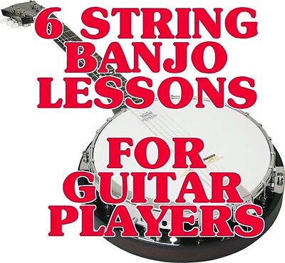 6 String Banjo Banjitar Lessons 4 Guitar Players DVD. EVERYBODY Is Playing One!