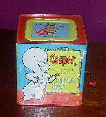 Mattel  Casper The Friendly Ghost  Music Box  1959  Harvey Cartoons  Baby Huey