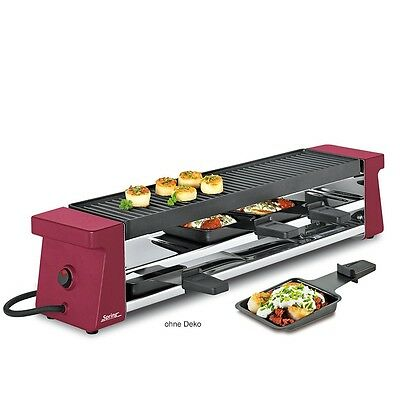 Spring Compact Raclette-4 rot mit Grillplatte