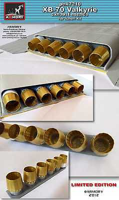 Armory Models 1/72 NORTH AMERICAN XB-70 VALKYRIE EXHAUST NOZZLES Photo Etch Set