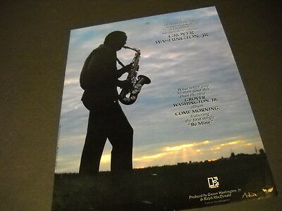 GROVER WASHINGTON JR. Playing In Silhouette COME MORNING Promo Poster Ad MINT