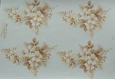 CERAMIC DECALS DIANA  19 cm LONG 13 cm WIDE 4 ON A SHEET RIGHT PRICE