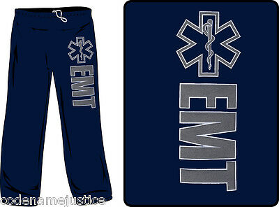 Ems Emt Reflective Sweatpants Emergency Medical Technician Reflective Sweatpants