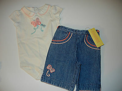 NWT 6-12 months Gymboree MADE WITH LOVE Denim Capri JEANS c2d5a2eed3f