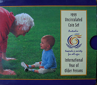 1999 Royal Australian Mint Year of the Older Person Uncirculated Coin Set