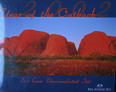 2002 Royal Australian Mint Year of the Outback Uncirculated Coin Set