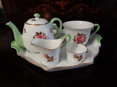1918 – 25 Noritake Hand Painted Rose And Gold Breakfast For One 6 Pc Set
