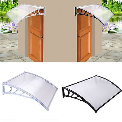 New Door Canopy Awning Rain Shelter Front Back Porch Outdoor Shade Patio Roof