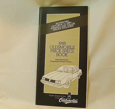 1985 Oldsmobile Salesmen's Specifications Book