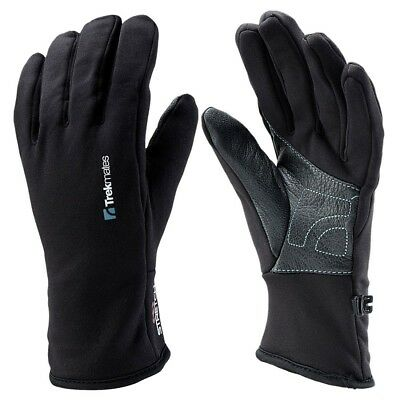 Trekmates Ullscarf Glove S - light stretch fleece finger gloves with leather pal