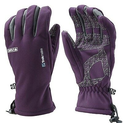 Trekmates Robinson Glove Women M - high-quality soft shell finger gloves with DR