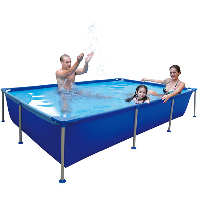 Jilong Passaat Blue 258 - steel frame paddling pool, rectangular pool, 258x179x6