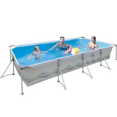 Jilong Passaat Grey 300 - steel frame paddling pool, rectangular pool, 300x207x7