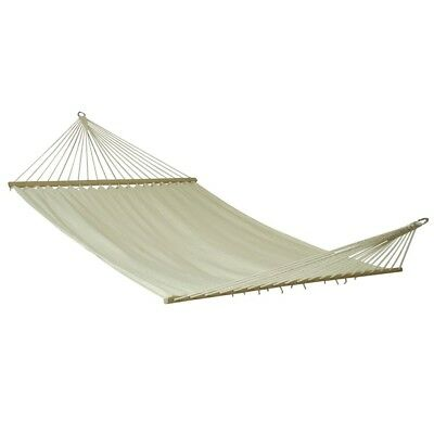 10T Island Double - Double post hammock, cotton, natural wood, 180x145 cm reclin