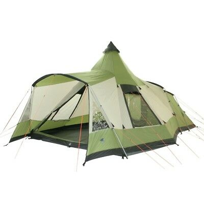 10T Navaho 470+ - 5-person tunnel tent with pyramid living area and canopy, stan
