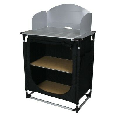 10T Camkitchen - Camping kitchen, 2 compartments, aluminium work surface and win