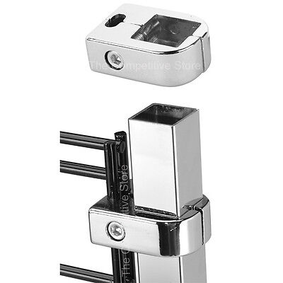 Gridwall Grid Connector To Square Tubing - Chrome - 6 Pieces