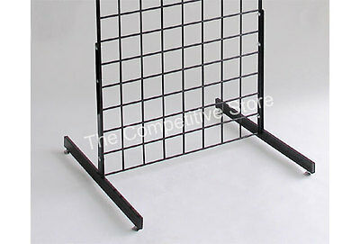 T-Shape Gridwall Panel Legs Display Set Of 3 Pairs Black For Grid Panels