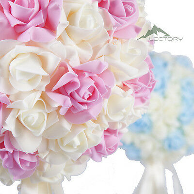 12cm 28cm Wedding Party Artificial Rose Kissing Ball Flower Bouquet Ball Pomande