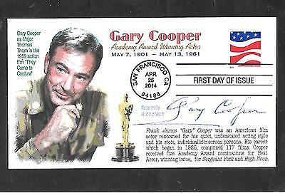 Gary Cooper Movie Star Westerns High Noon Autograph Signed First Day Cover Fdc