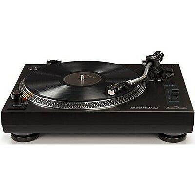 Crosley C200A-BK Direct Drive Turntable with S-Shaped Tone Arm (Black) NEW