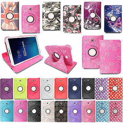 New Leather 360° Rotating Stand Case Cover For Samsung Galaxy Tablet PCs
