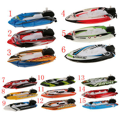 1pc Inflatable Windup Speedboat Summer Water Pool Boat Toys Party Beach Toys