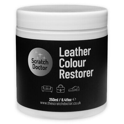 WHITE Leather Dye Colour Restorer for Faded and Worn Leather Sofa etc.