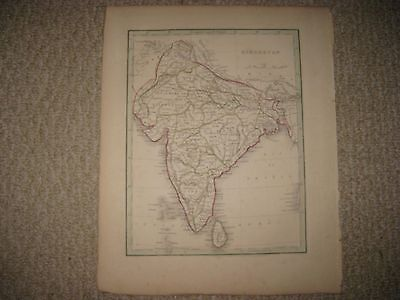 Antique 1835 Hindostan British India Bradford Map Ceylon Mysore Hyderabad Rare
