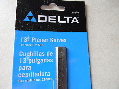 "Delta 13"" portable planer knives, 22-549 2 knife set for the 22-580 and others"
