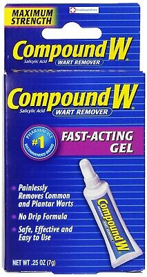 Compound W Wart Remover Maximum Strength Fast Acting Gel 0.25 Oz: 2 Pack
